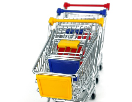 concept of shopping cart with a globe world Stock Photo - 11737072