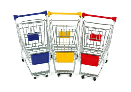 concept of shopping cart with a globe world  photo