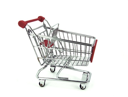 shopping cart over white background Stock Photo - 11976268