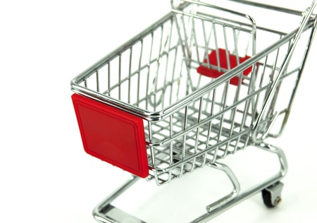 shopping carts over white background  photo