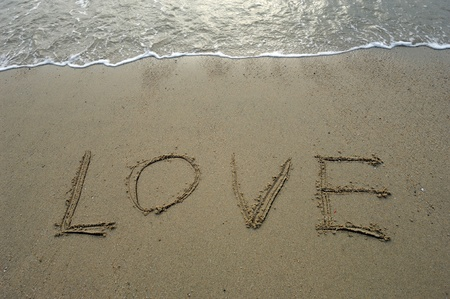 Love in the sand photo