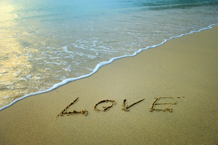 holiday message: Love in the sand