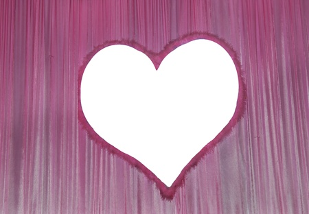 Movie or theatre curtain with heart shape  photo