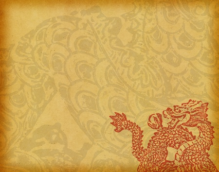 New year decoration with dragon art Stock Photo - 11966276