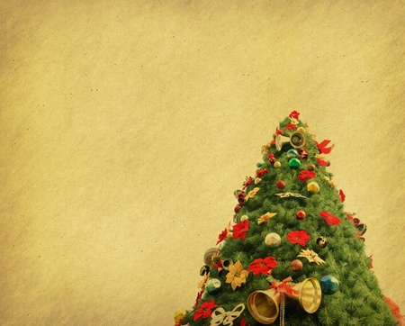 Christmas tree with set of abstract painted background  photo