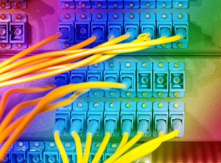 shot of network cables and servers in a technology data center Stock Photo - 11737127