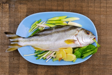 Fish in the plate photo