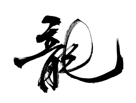 words mean dragon.Chinese New Year Calligraphy for the Year of Dragon                  photo