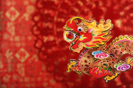 Chinese New Year Decoration--Closeup of Dancing Dragon photo