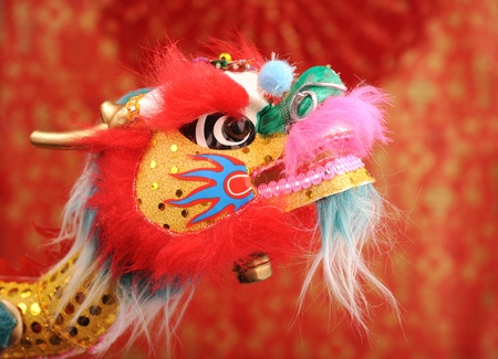 Chinese New Year Decoration--Closeup of Dancing Dragon  photo
