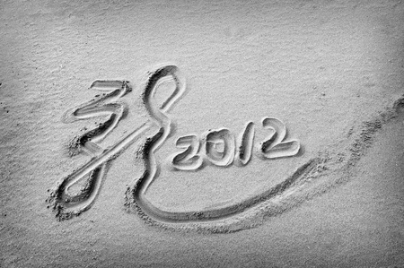 dragon 2012 on the beach of sunrise  photo