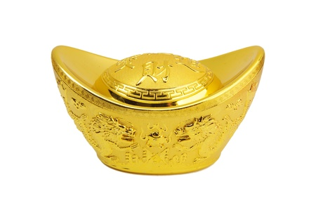 fengshui: Chinese gold ingot mean symbols of wealth and prosperity.