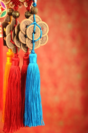auspicious: Lucky knot for Chinese new year greeting