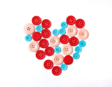 haberdashery: Heart shape from button