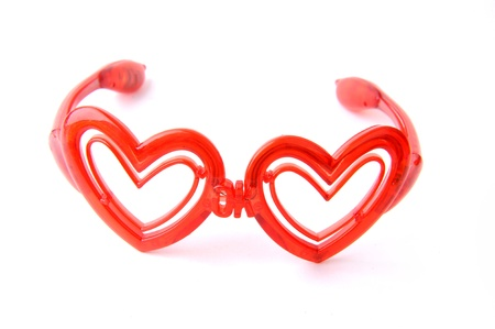 glasses with heart shape glass Stock Photo - 12150551