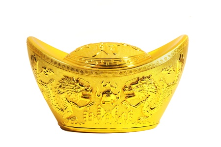 Cinesi di lingotti d'oro medi simboli di ricchezza e prosperità Archivio Fotografico