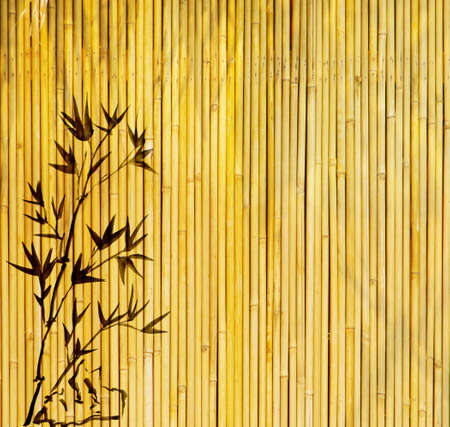 bamboo texture: design of chinese bamboo trees with texture of handmade paper