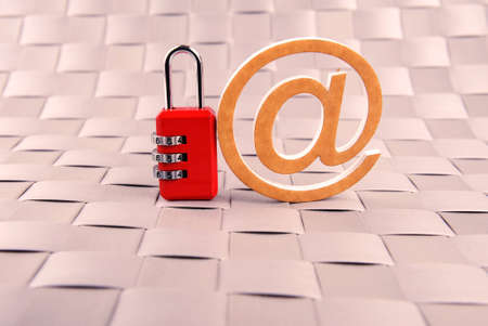 padlock email blue safety internet mail photo