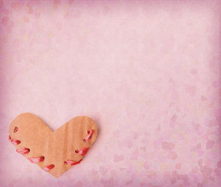 Heart painted on grunge paper photo