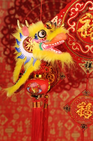 Chinese New Year Ornaments--Traditional Dancing Dragon photo