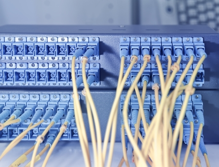 tcp: Cavi in ??fibra collegato al server in un datacenter