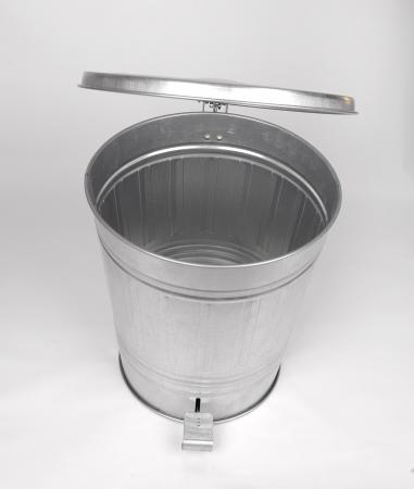 Steel trash can photo