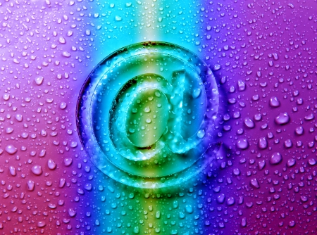abstract E-mail on liquid bubbles for website   photo