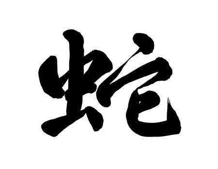 year snake: Chinese New Year Calligraphy for the Year of snake Stock Photo