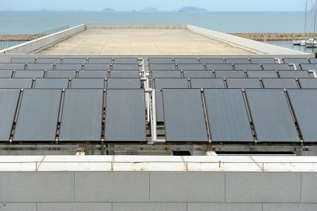solar panels on the roof photo