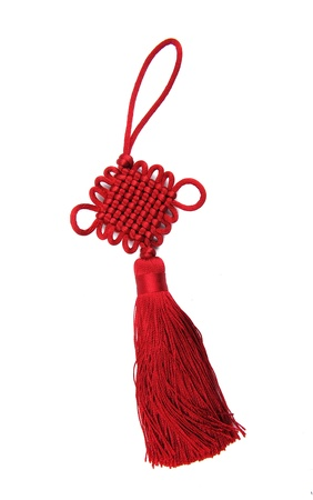trinket: Traditional chinese knots on white background
