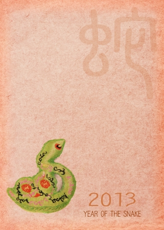silhouette of New Year Snake 2013 Stock Photo - 15089002