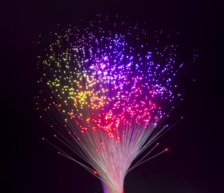 connect the dots: Abstract Internet technology fiber optic background