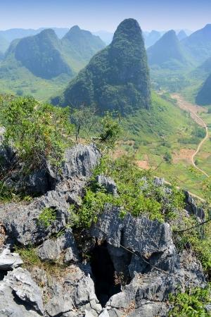 karst:  Karst mountain landscape in Yangshuo Guilin, China