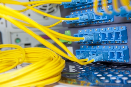 Data transfer by optical fibre information technology  Stock Photo - 15722986