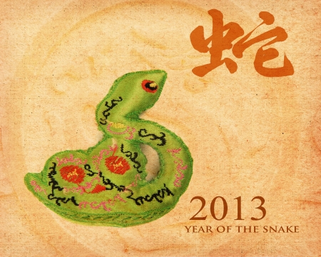 Chinese Calligraphy 2013 for Year of Snake Stock Photo - 15717180