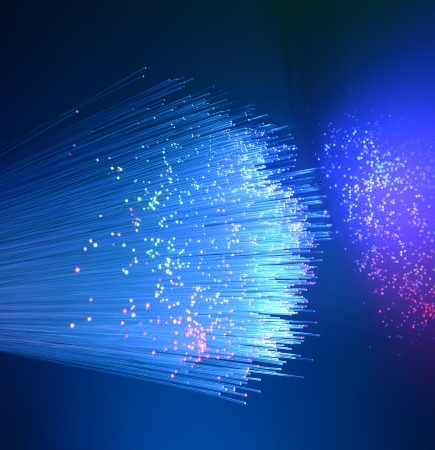 fiber optic showing data or internet communication concept photo