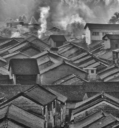 foothill: historic interest in china guangxi yangshuo huangyao Stock Photo
