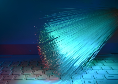 Abstract Internet technology fiber optic background Stock Photo - 16565082