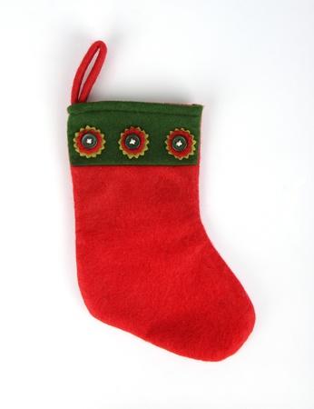 mantle: christmas socks on white background Stock Photo