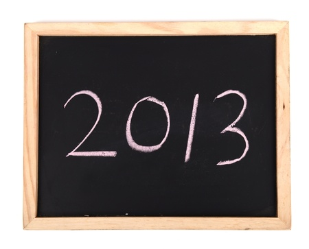 2013 on blackboard Stock Photo - 16641916