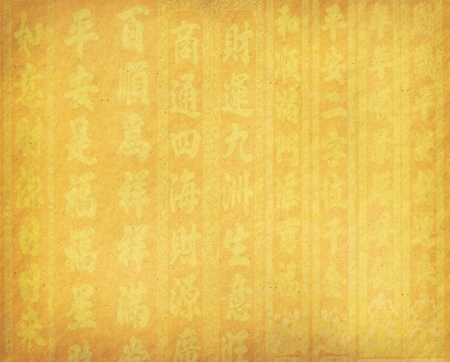 old paper grunge background with Chinese Calligraphy - words mean happy new Year photo