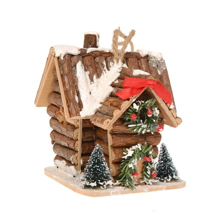 Christmas decorations-wooden cottage photo