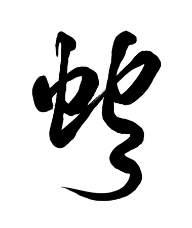 Chinese calligraphy mean snake photo