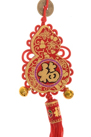 Chinese new year ornament on white background photo