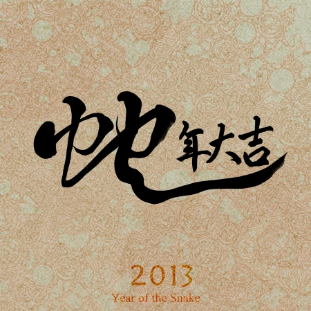 happy snake year 2013 calendar photo