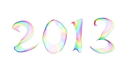 accurately: 2013 in abstract smoke background Stock Photo