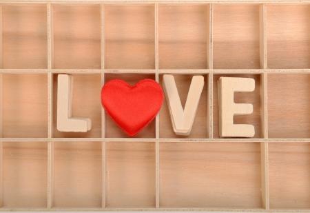 love spell with Wooden alphabet blocks Stock Photo - 17530950