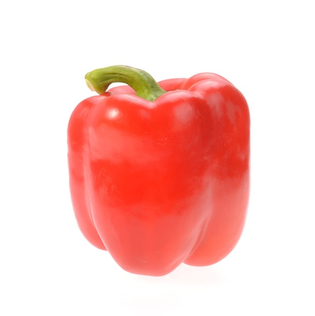 Sweet red pepper isolated on white background photo