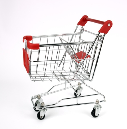 shopping cart isolated on white Stock Photo - 17743852