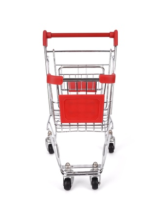 shopping cart isolated on white Stock Photo - 17743849